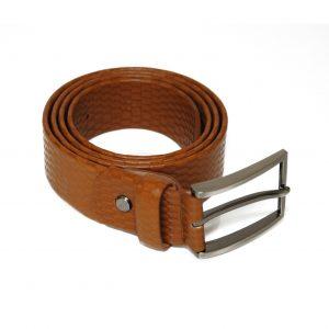 Cognac Genuine Leather Belt